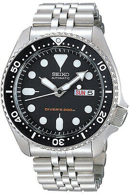 Seiko 5 SNKM80 Men's Stainless Steel Two Tone Silver Dial Automatic Watch