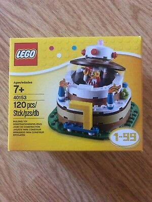 LEGO HOLIDAY 40153 BIRTHDAY TABLE DECORATION Birthday Cake Set BRAND NEW SEALED