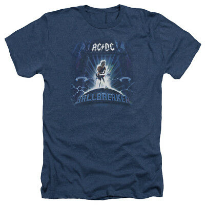 ACDC AC-DC Rock Band BALLBREAKER Album Cover Art Heather T-Shirt All Sizes