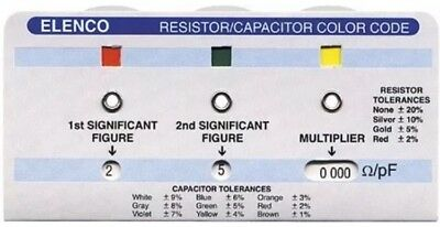 Elenco Cc-100 Resistor/capacitor Color Code Calculator Guide