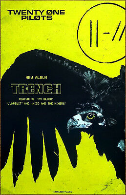 TWENTY ONE PILOTS Trench 2018 Ltd Ed RARE Poster +FREE Indie Rock EDM Pop Poster