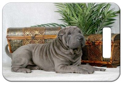 Set of 2 Chinese Shar-Pei Luggage Tags