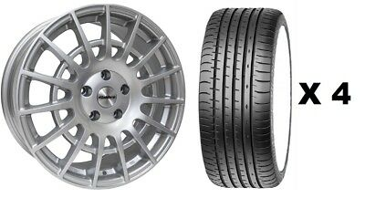 """20"""" Silver T Sport 1250Kg Alloy Wheels + Tyres Fits Ford Transit Xl Crew Cab"""