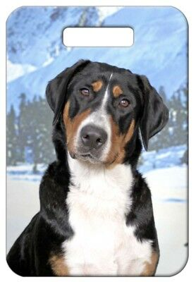 Set of 2 Greater Swiss Mountain Dog Luggage Tags