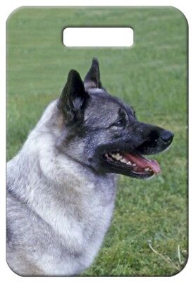 Set of 2 Norwegian Elkhound Luggage Tags