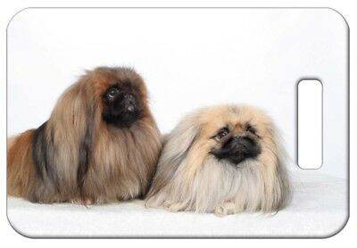 Set of 2 Pekingese Luggage Tags