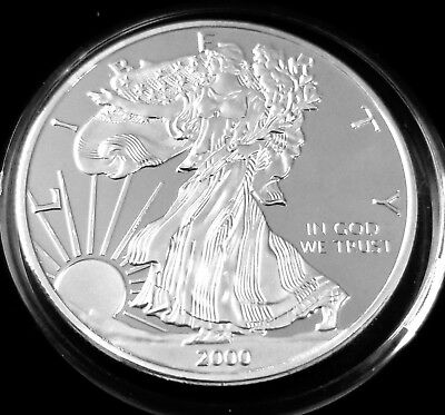 SILVER AMERICAN EAGLE, Dollar, Coin, Novelty, Proof, Bullion, FAUX, BEWARE