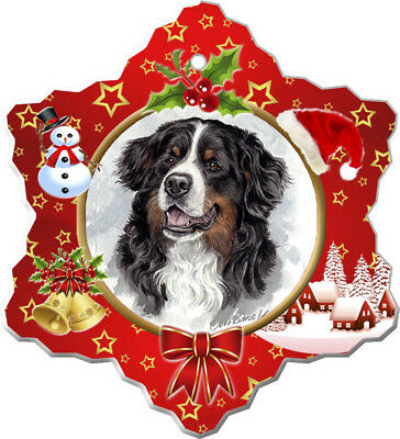 Bernese Mountain Dog Porcelain Christmas Holiday Ornament