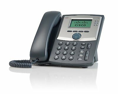 Cisco SPA303 - 3 Line IP Phone - Unlocked Unbranded w/ Base and Power Adapter