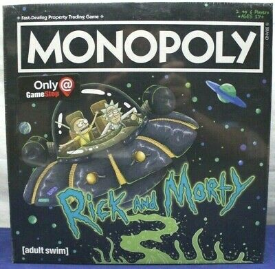 Monopoly - Rick and Morty - Gamestop Exclusive - 7 Collectible Coins - USAopoly