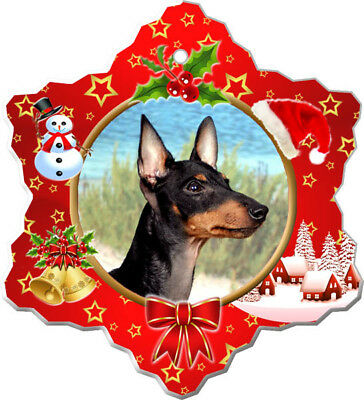 Manchester Terrier Porcelain Christmas Holiday Ornament