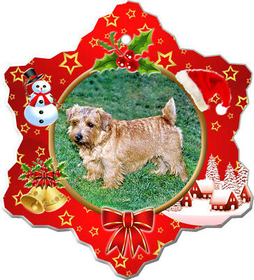Norfolk Terrier Porcelain Christmas Holiday Ornament