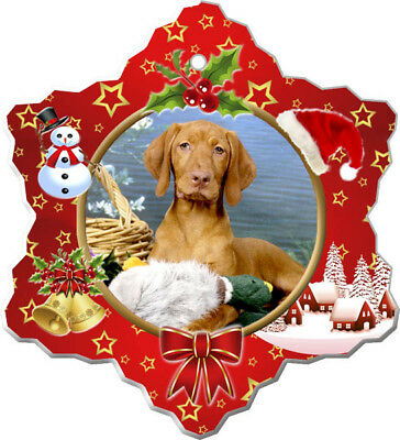Vizsla Porcelain Christmas Holiday Ornament