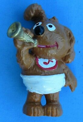 Vtg Applause 1988 Muppet Babies PVC Figure Baby Rowlf playing trumpet