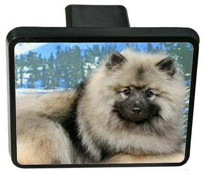 Keeshond Trailer Hitch Cover