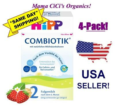 ***FREE EXPEDITED SHIP*** 4 BOXES HiPP Stage 2 Organic Growing Up Milk Combiotic