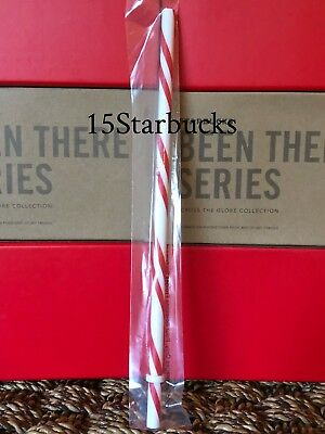 Starbucks Reusable Candy Cane Stripe Straw Holiday Collection 2018