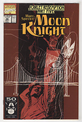 Marc Spector: Moon Knight #30 (Sep 1991 Marvel) [Scarlet Redemption] Sienkiewicz