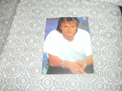 DAVID HALLYDAY PIN UP POSTER PHOTO AFFICHE 8 x 11.5 CLIPPING + 1 CARD