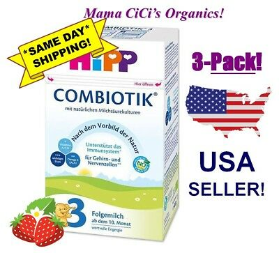 **FREE EXPEDITED SHIP!** 3 BOXES HiPP Stage 3 Organic Growing Up Milk Combiotic
