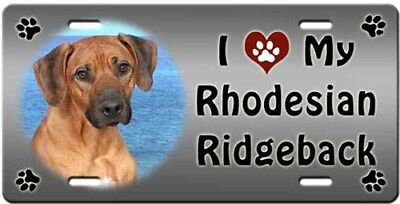Rhodesian Ridgeback License Plate - Love