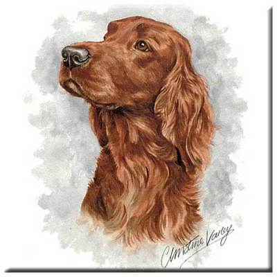 "Irish Setter 4"" Decorative, Cork Backed, Ceramic Tile"