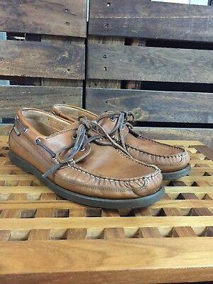 80db34204d2 Mephisto Men's 8.5 Spinnaker Brown Leather Casual Oxfords Boat Air Relax  Shoes