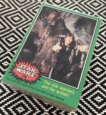 Topps Star Wars 1977 GREEN SERIES 4 SET trading cards Including Non Error 207