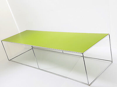Table D'appoint Rectangulaire Vert Pomme Vintage 70S Annees 70 Space Age 70's
