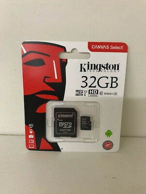 NEW Kingston 32GB Micro SD SDHC Memory Card adapter Mobile Phone Camera Class 4