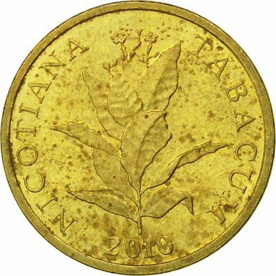 [#539349] Münze, Kroatien, 10 Lipa, 2010, S+, Brass plated steel, KM:16