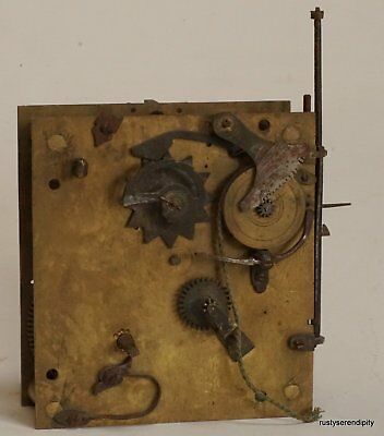c.1700 French verge  timepiece movement with pull quarter repeat - Incomplete