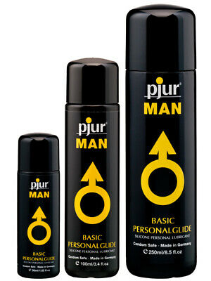 Pjur Man Basic Silicone Lubricant Personal Lube Glide 30/100/250ml