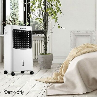 Portable Evaporative Air Cooler 3 Speed Electric Fan Humidifier Remote Cooling