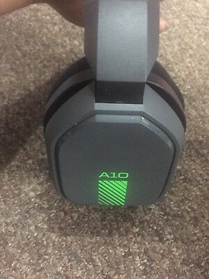 Astro A10 Gaming Headset Green For Xbox One Ps4 Pc Used In Brown