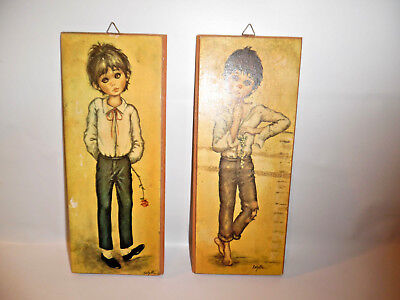 Pair Of Idylle Wall Plaques Little Boy