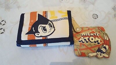 Astro Boy Mighty Atom WALLET w/ ZIPPER & CORD UNUSED JAPANESE ANIME