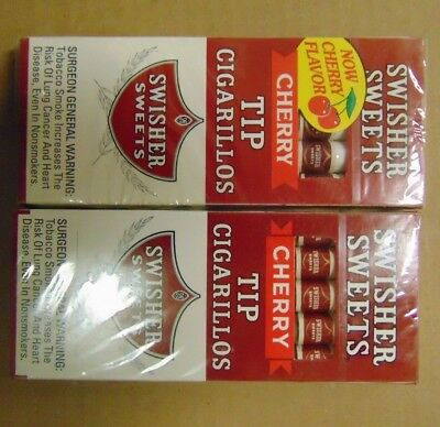 Swisher Sweets Cherry Tip Cigarillos Lot Of 2 Boxes 10 Cigarillos