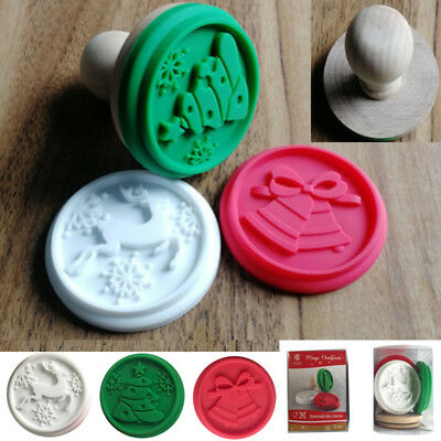 3pcs Christmas Cookie Stamp Biscuit Cutter Mold Baking Cake Decor DIY Mould Tool