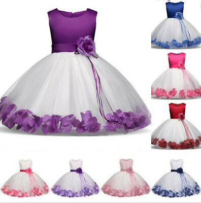 Flower Girl Princess Dress Baby Kids Party Wedding Bridesmaid Formal Tutu Gowns