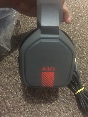 Astro A10 Gaming Headset Red Pc Xbox One Ps4 Used In Brown Box