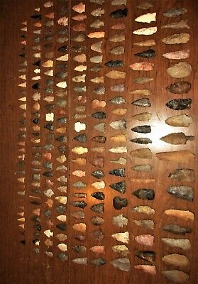 Collection of 230 Authentic Field Grade Arrowheads from TN