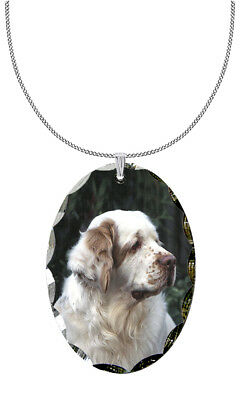 Clumber Spaniel Pendant / Necklace