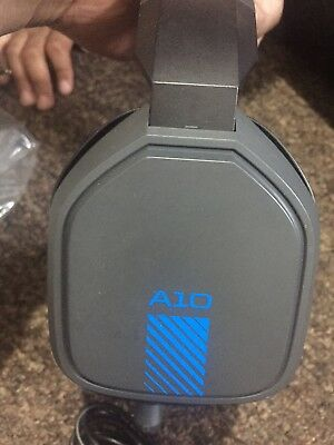 Astro A10 Gaming Headset Blue Ps4 Xbox One Pc Used In Brown Box
