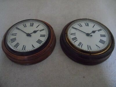 Gillet & Johnston Slave Clocks X2 For Master Clock Unrestored Working Condition
