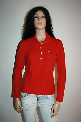 LACOSTE POLO T-SHIRT MAGLIETTA DONNA Tg.42 WOMAN SHIRT CASUAL VINTAGE  A25
