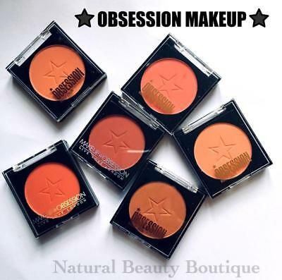 OBSESSION MAKEUP by Revolution BLUSH Single Powder BLUSHER Refill Palette VEGAN