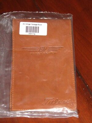 Vokey BV Wings, Titleist Tan Leather Yardage Book Holder, Brand New In Plastic