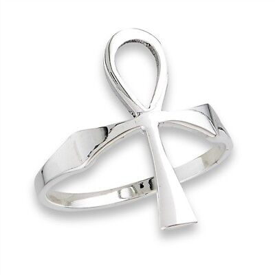 Sterling Silver Egyptian Cross ANKH Ring Jewelry Size 6-10