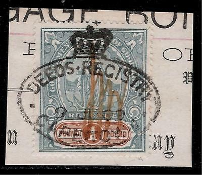 British Colony CAPE OF GOOD HOPE 1909 High Value 1 Pound Revenue Stamp - Hope